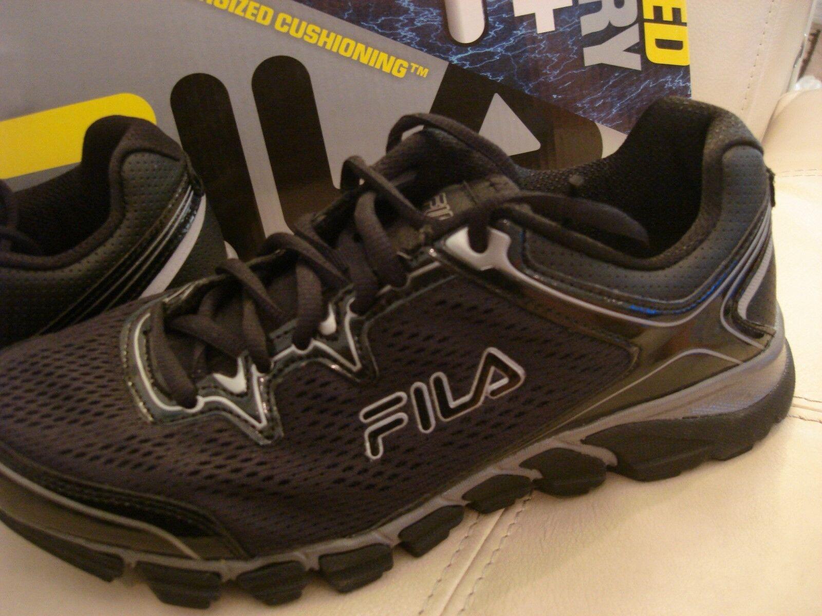 NEW WB MEN'S FILA MEMORY FOAM COOL MAX BLACK 7.5 ATHLETIC WALKING TENNIS SHOE