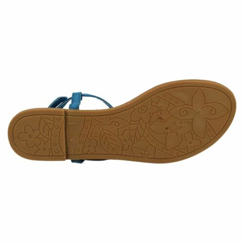 Kett Spot On F0R681 Ladies Blue Aztec Toe Post Summer Sandal R34B