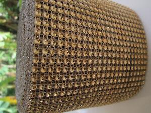 0-5m-elegante-Strass-Band-Borte-Nichtelastisch-Spitze-Gold-11-8cm-Breit-PT-043