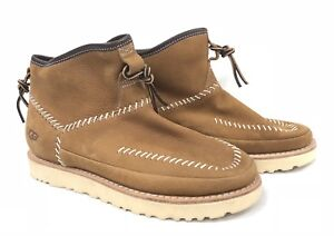 5bf6cdef288 Details about UGG Australia Men Campfire Boots Chestnut Sheepskin Men's  Pull On 1091731