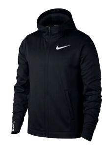 Nike-Mens-Therma-Zip-Elite-Hoodie-AQ9713-010-Black-White-New-With-Tag-Basketball