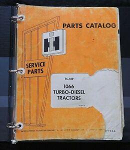 1971-76 INTERNATIONAL HARVESTER 1066 1066D TRACTOR PARTS CATALOG MANUAL 200 pgs
