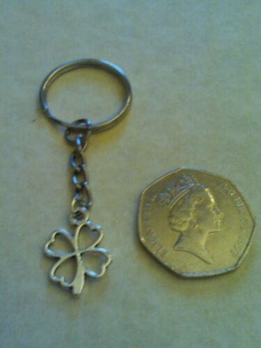 Lucky four leaf clover keyring Birthday Good Luck University Ect Great Gift