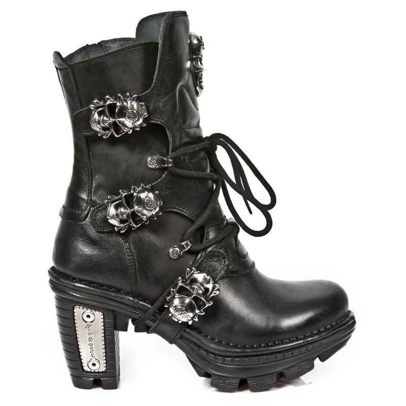 NEW ROCK Damen Stiefel Boots gothic schwarz M.NEOTR026-S1