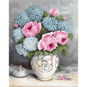 Gobelin kit Tapestry embroidery Kit Roses Luca-S Petit point DIY
