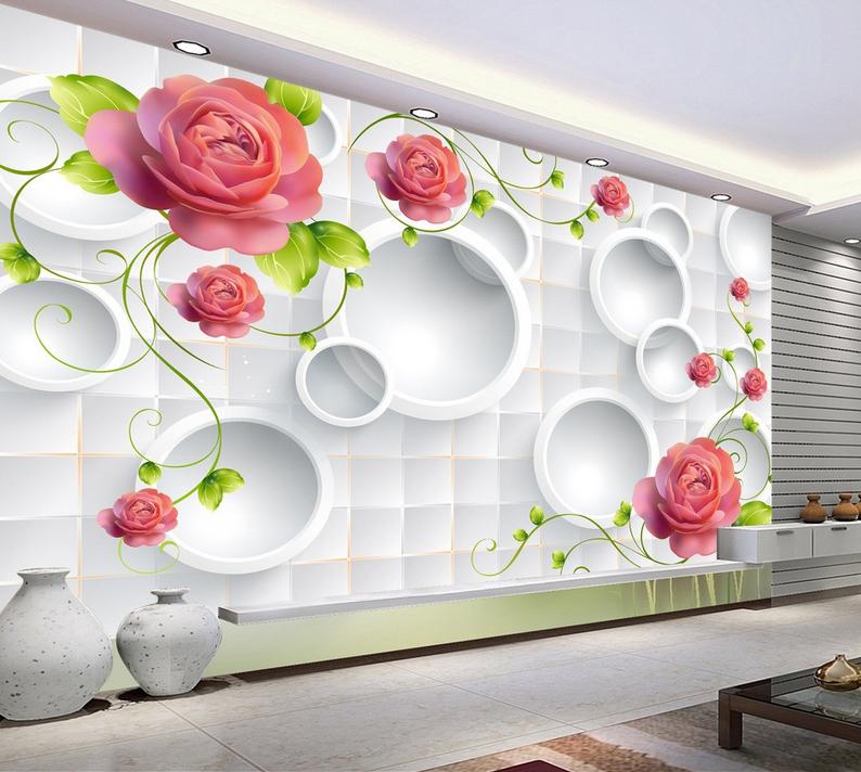 3D Circle 4015 Wallpaper Murals Wall Print Wallpaper Mural AJ WALL AU Carly