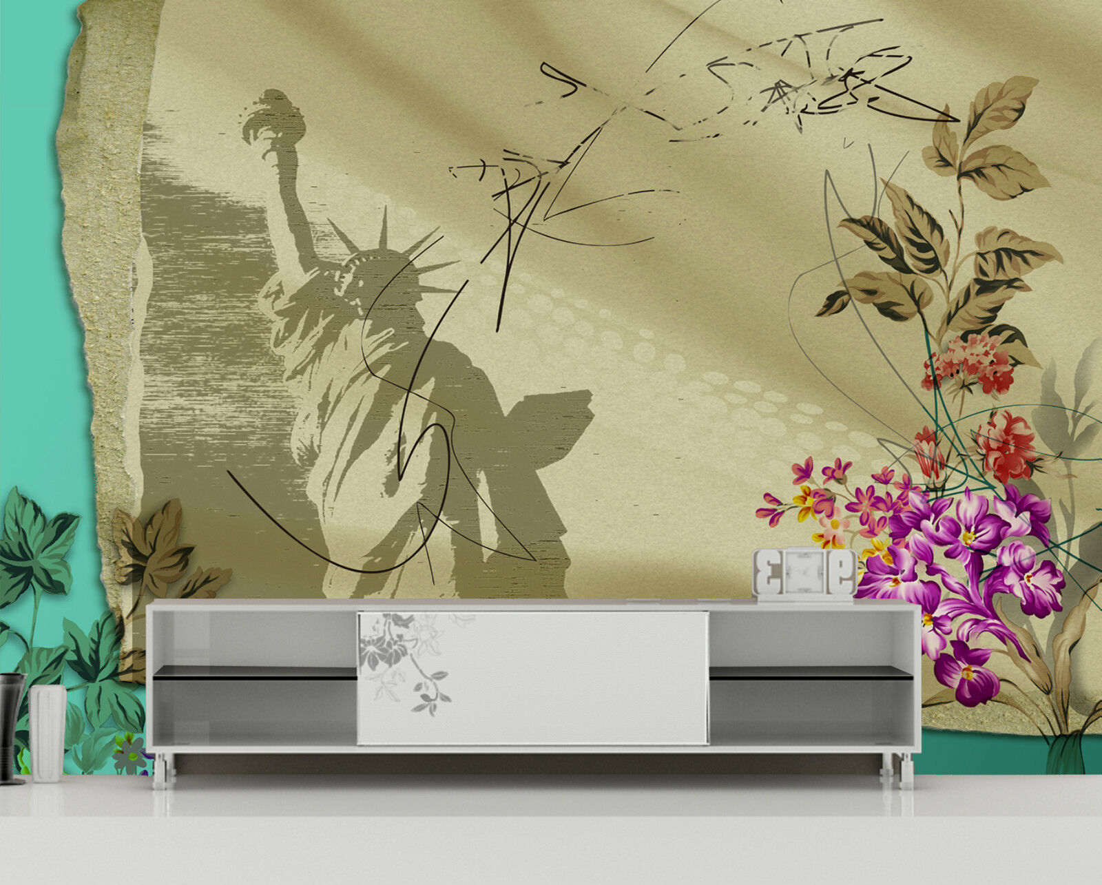 3D Statue of of of Liberty 6 WallPaper Murals Wall Print Decal Wall Deco AJ WALLPAPER 22a06c
