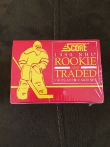 Score-1990-NHL-Rookie-and-Traded-110-Player-Card-Set-Factory-Sealed