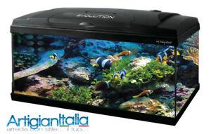 Acquari acquario completo 60 litri haquoss evolution vetro for Acquario tartarughe completo