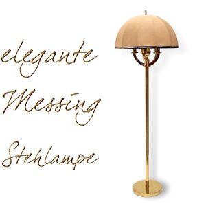 stehlampe elegante messing lampe mit stoffschirm gebraucht wundersch n ebay. Black Bedroom Furniture Sets. Home Design Ideas
