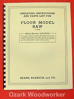Craftsman 10 Table Saw 103.27270 Operator & Parts Manual 0168