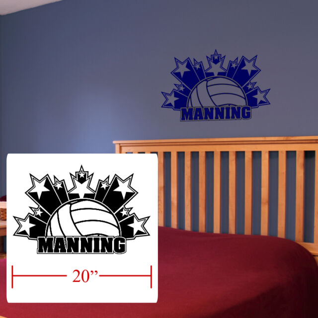 Volleyball boys Girls room decor personalized stars volleyball fathead style