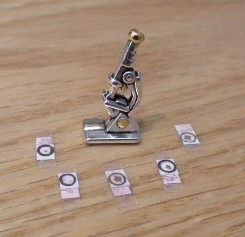 1//12 dolls house Miniature handmade Microscope Doctors desk Office Study LGW