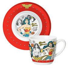 Wonder Woman Coffee tea Cup Mug & Saucer Plate Mothers Day Birthday Gift Boxed
