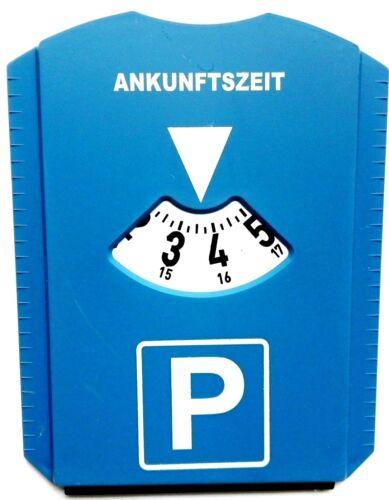 2 Stück Parkscheibe Parkuhr mit Eiskratzer /& Gummilippe NEU /& OVP