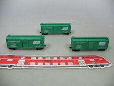 AE292-0,5# 3x Micro-Trains Spur N Boxcar/Güterwagen Penn Central PC 103601, NEUW