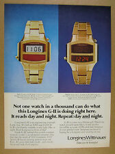 1976 Longines Wittnauer G-II LCD & LED Digital Watch photo vintage print Ad