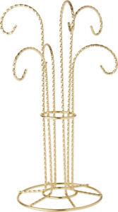 """7/"""" H x 3/"""" W x 3/"""" D 3 Pack Plymor Simple Gold Ornament Stand"""