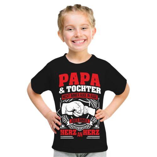 Kinder T-Shirt Papa /& Tochter Geschenk Geburtstag Spruch Größe 86-164 Mädchen