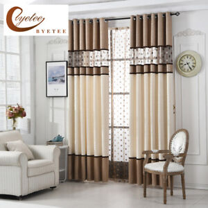 Details about European Golden Royal Luxury Curtains for Bedroom Window  Living Room...