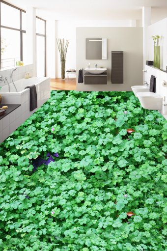 3D Grün Leaves Pond 82 Floor WallPaper Murals Wall Print Decal AJ WALLPAPER US