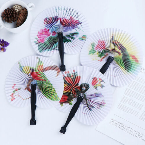 Summer Handheld Fan Chinese Folding Hand Fan Printed Paper Decorative gift SL