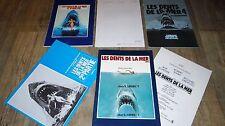 LES DENTS DE LA MER jaws 1.2.3 4.! les scenarios dossier presse cinema + photos