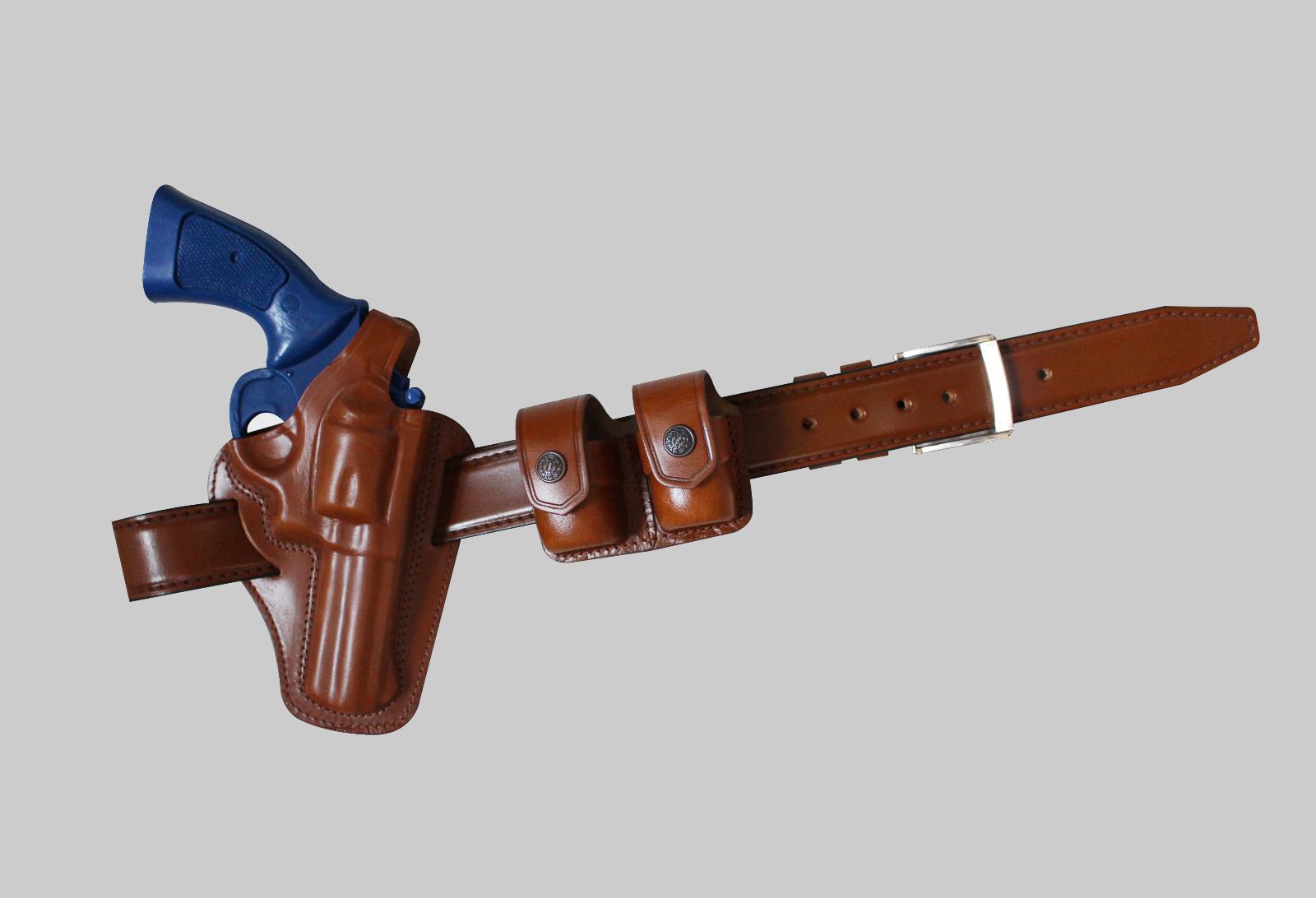 KB30538 COMBO For 357 Magnum Pancake Holster & Double Speedloader Case & Belt