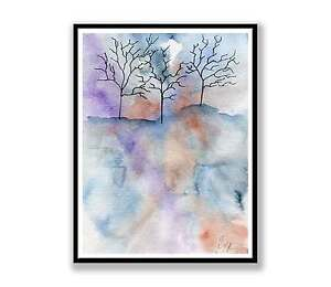 Trees-Abstract-landscape-ink-abstract-painting-unique-gift-Print-ID-494