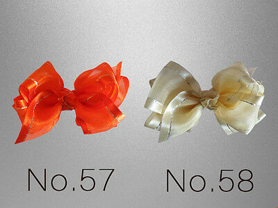 """100 BLESSING Good Girl Hairbow 4.5/"""" Double ABC Organza Hair Bow Clip Wholesale"""