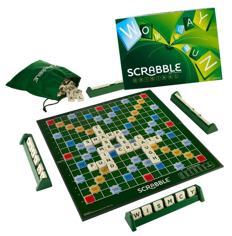 Scrabble Original Board Game Family Fun Spelling Bee 2-4 Players Word Tiles Edu