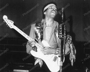 "Jimi Hendrix In Concert Toronto May 1969   8"" - 10"" B&W Photo Reprint"
