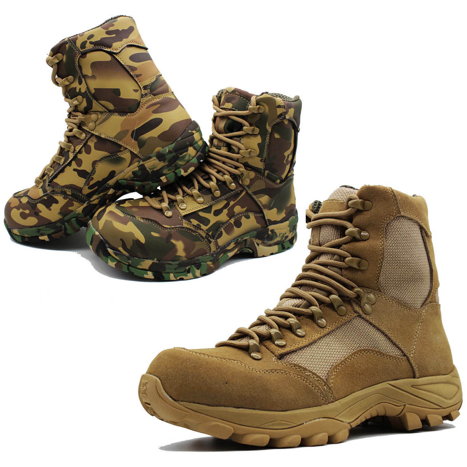Mens Army Durable Tactical Combat Boots Outdoor Climbing Waterproof shoes US6-12