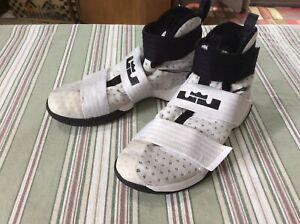 81900858bc030 Nike LeBron Soldier 10 TB 844380-100 Basketball Shoes Men Size 8