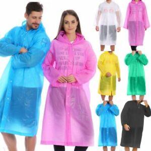 Lady Transparent Raincoat Hooded Jacket Waterproof Rain Coat Lightweight Fashion