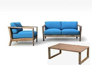 Reclaimed Lounge Serie Miami 2 Sitzer Sofa Sessel Lounge Tisch