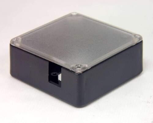 "Lot of 5 New Project box // Enclosure Black 3.3/"" Sq with Lid SKU 153616"