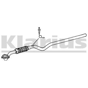 VAUXHALL ASTRA G ZAFIRA 1.4 1.6 2000-2005 Exhaust Front Down Pipe