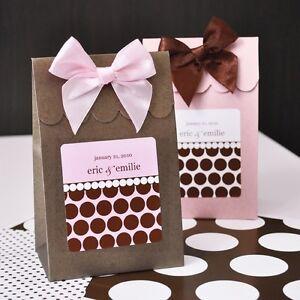 Stripes Dots Candy Box Bags Wedding Favor (Pink Brown Black Gold ... ffe103e00c