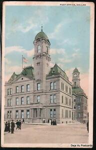 DALLAS-TX-TEXAS-Post-Office-Vintage-c1920-Postcard