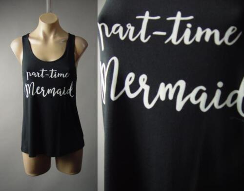 Part Time Mermaid Beach Ocean Graphic Tee Racer Back Tank Top 232 mv Shirt S M L