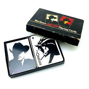 Vintage-Marlboro-Wild-West-Playing-Cards-1991-Phillip-Morris-2-Decks