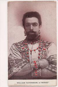 Vintage Postcard William Faversham as Herod English stage and film actor