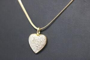 333-Gold-Diamant-Herz-Anhaenger-mit-333-Gold-Haskette