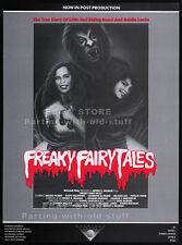 DEADTIME STORIES aka FREAKY FAIRY TALES__Original 1984 Trade AD__movie promo