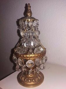 ancienne lampe de chevet girandoles pampille montgolfi re bronze ebay. Black Bedroom Furniture Sets. Home Design Ideas