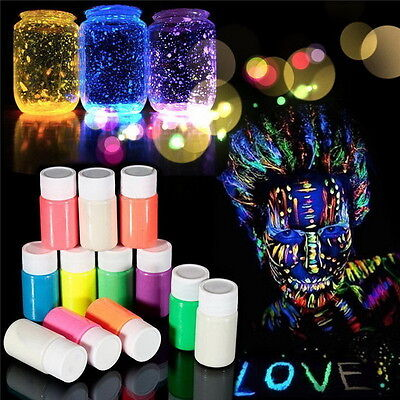 UV Glow Neon Face & Body Paint Fluorescent & Super Bright Glow in the Dark U