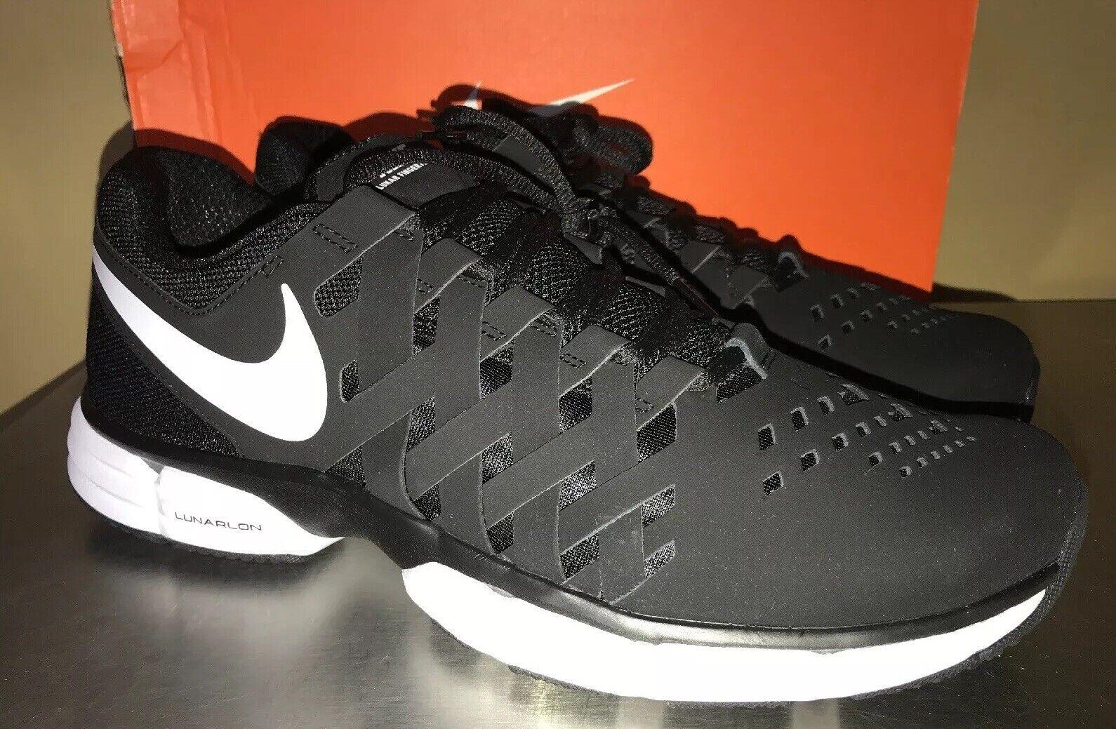 NIKE Lunar Fingertrap TR shoes 898065 001 Black white Men's Size 11 Training