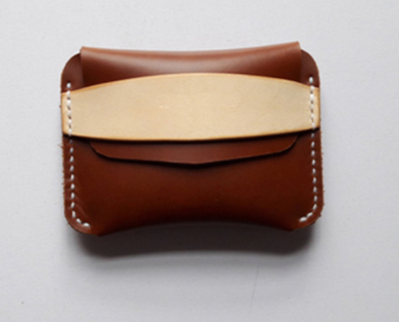 men women wallet purse cow Leather Card Cases ID holder bag customize brown Z791