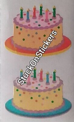 1 Strip of Vintage Opal VERY RARE Stickers Mrs Grossman OPAL BIRTHDAY CAKE